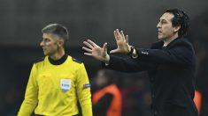 Emery da instrucciones en un partido con el PSG. (AFP)