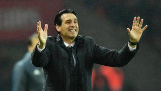 Unai Emery, en un partido del PSG. (Getty)