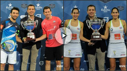 Paquito-Sanyo y las gemelas, campeones del Estrella Damm Master Final. (worldpadeltour.com)