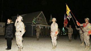 La ministra Cospedal en su visita a Irak (Foto: Ministerio de Defensa)