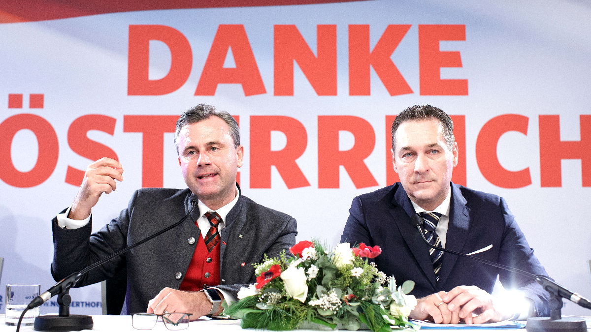 Los líderes de la ultraderecha austriaca en una reciente imagen (Foto: AFP).