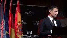 Pedro Sánchez, este fin de semana, en una conferencia en Berlín. Foto: Twitter
