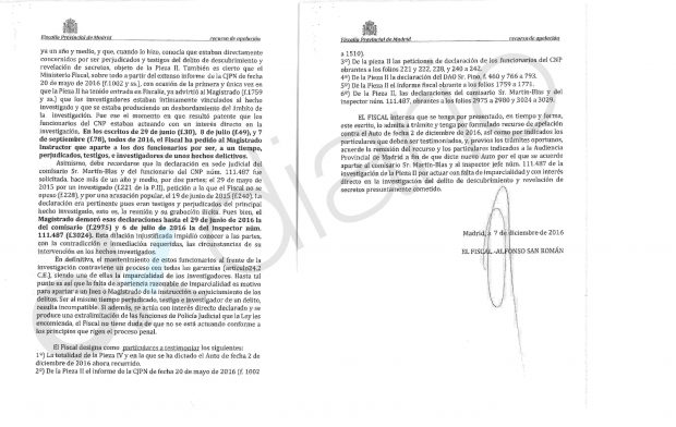 Recurso del fiscal, Alfonso San Román.