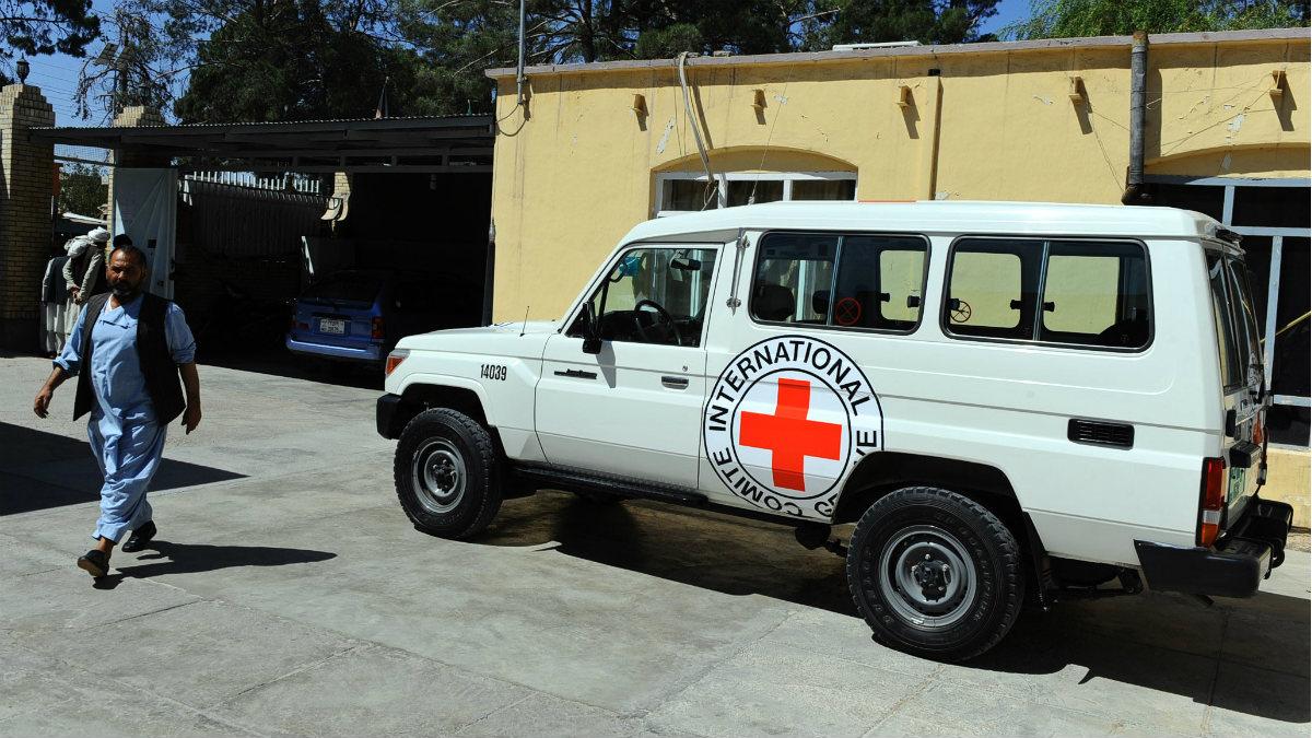 Un puesto de la Cruz Roja en Herat (Afganistán). (AFP)