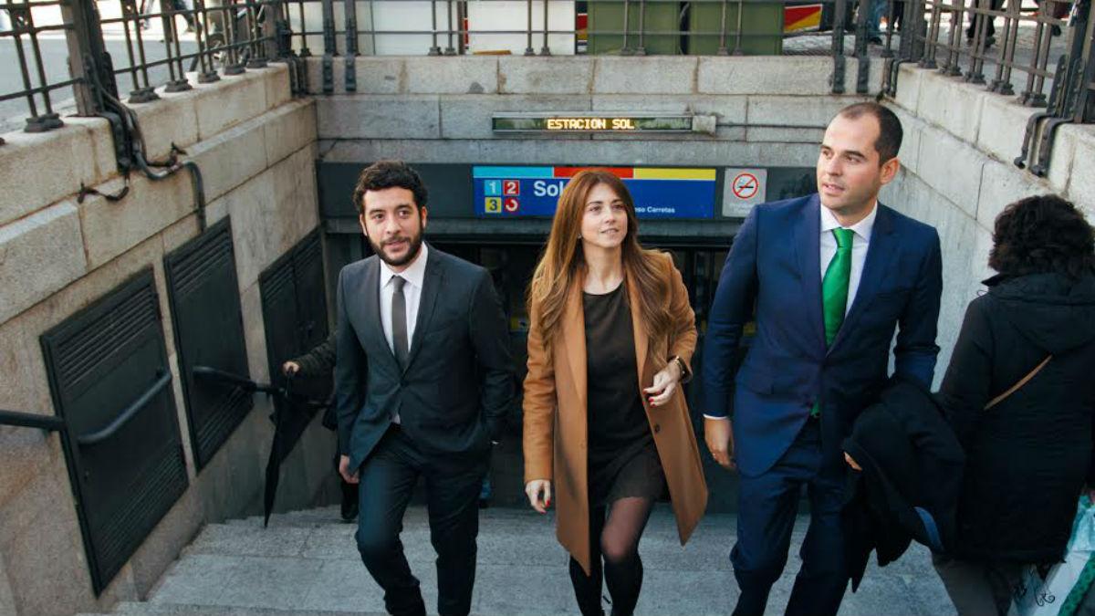 Ignacio Aguado, Esther Ruiz y César Zafra (Ciudadanos Madrid)