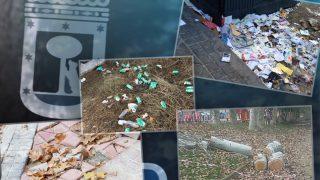 Imágenes de suciedad en Madrid. (Fotos: TW)