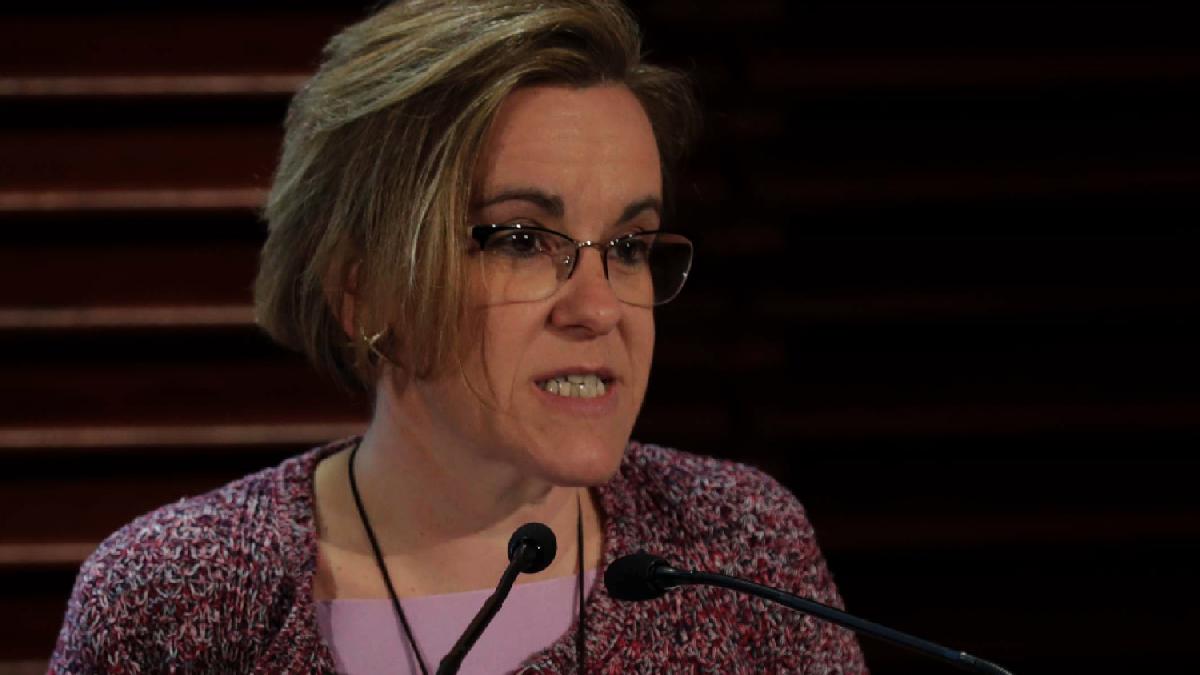 Purificación Causapié, líder del PSOE en el Ayuntamiento de Madrid.