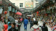 Un mercado callejero en Pekín.