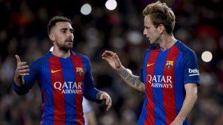 Rakitic celebra el 2-0 del Barcelona al Hércules. (AFP)