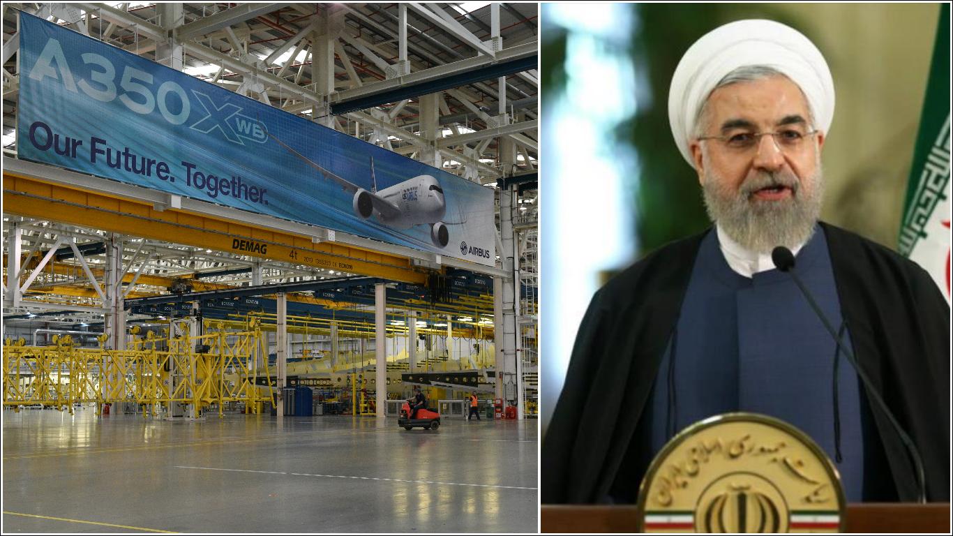 Histórica venta de Airbus a Irán (Fotos: AFP)
