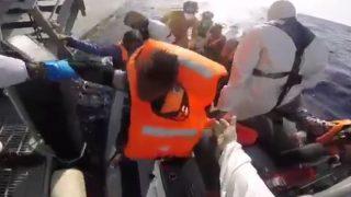 Rescate de los migrantes en el Mediterráneo (Foto: EMAD)