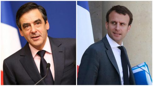 François Fillon y Emmanuel Macron, candidatos al Elíseo en 2017.