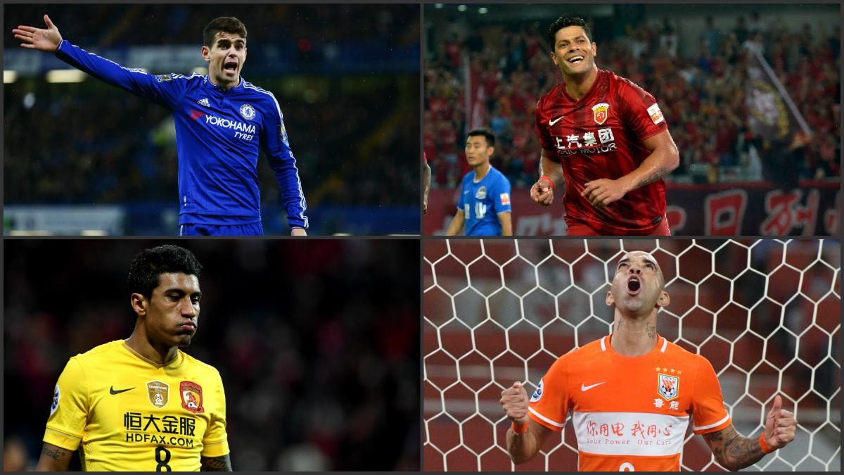 Los futbolistas brasileños que se fueron a la Superliga China
