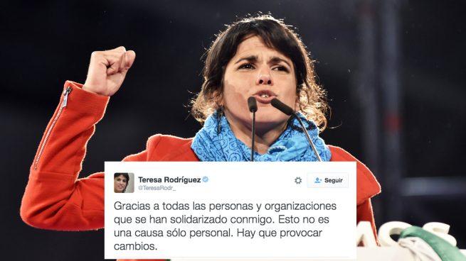 """Teresa Rodríguez agradece la solidaridad recibida y pide """"cambios"""" para que no vuelva a ocurrir"""
