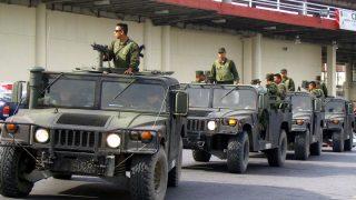 Militares mexicanos desplegados. (Foto AFP)