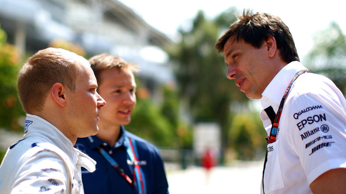 Toto Wolff asegura que el fichaje de Valtteri Bottas por parte de Mercedes no es tan fácil como parece. (Getty)