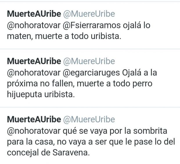 amenazas-muerte-centro-democratico-colombia
