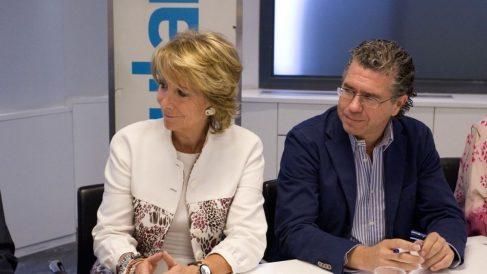 Esperanza Aguirre y Francisco Granados.