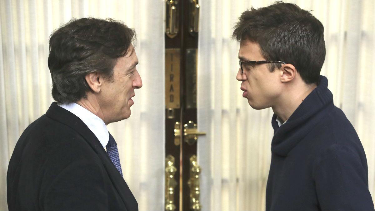 Los portavoces del PP y Unidos Podemos en el Congreso, Rafael Hernando (i) e Íñigo Errejón (Foto: Efe)