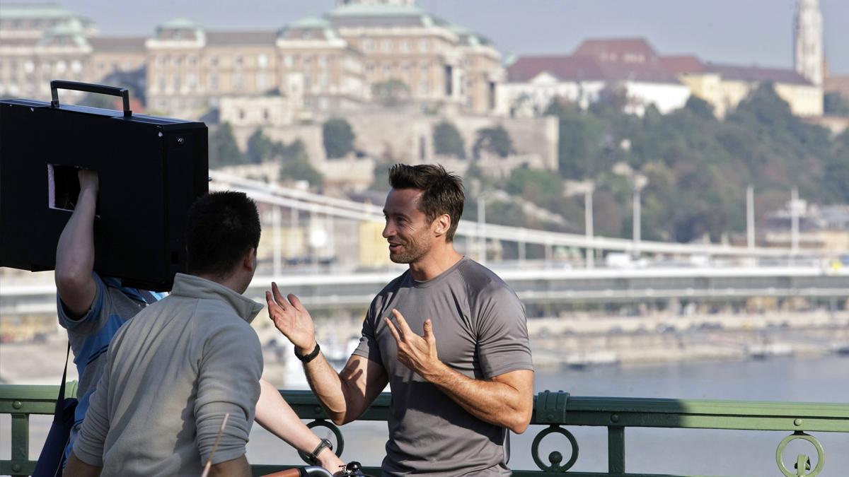 Hugh Jackman en Budapest. (Foto: AFP)