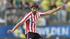 Yeray Álvarez, en un partido del Athletic. (AFP)