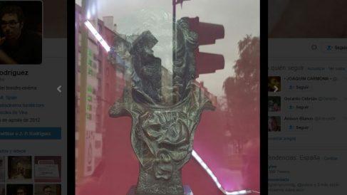 Goya de Juanma Bajo Ulloa en una tienda de segunda mano (Twitter)