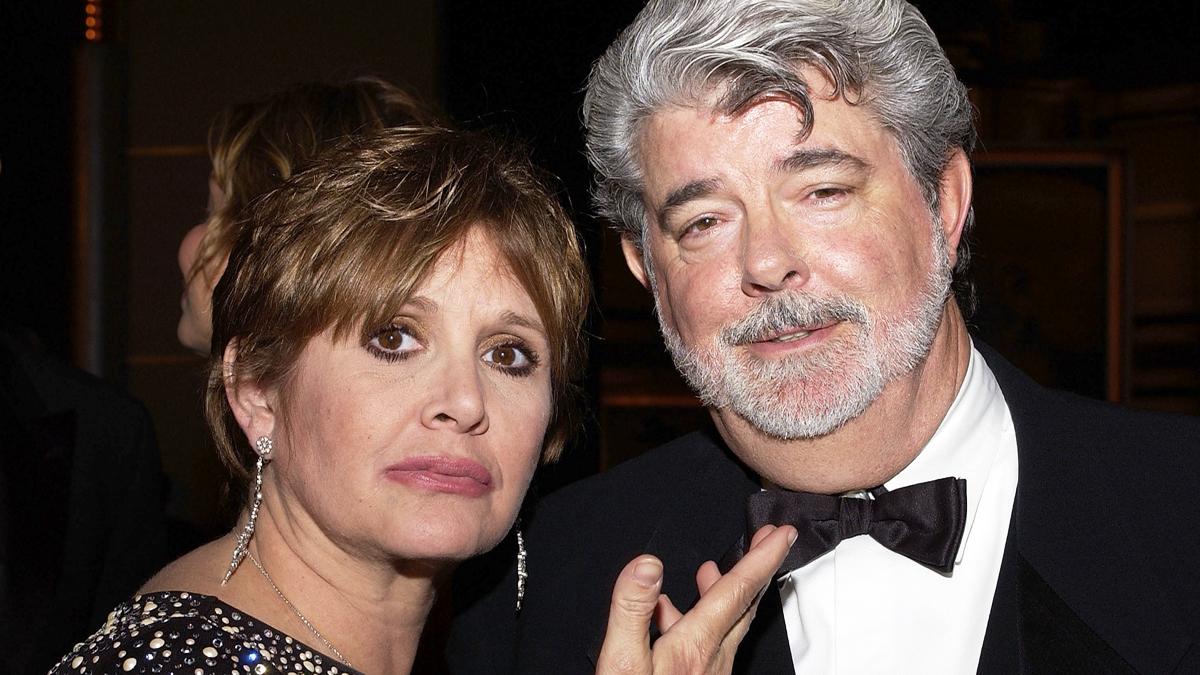 Carrie Fisher y George Lucas. (Foto: AFP)