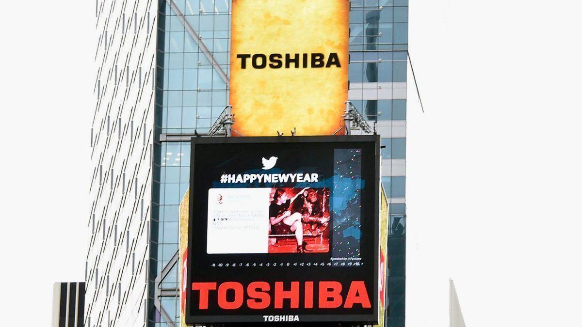 Carteles de Toshiba en Nueva York (Foto: Getty)