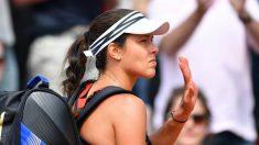 Ana Ivanovic, después de un partido en Roland Garros. (Getty)