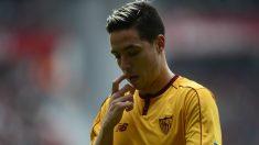 Nasri, en un partido con el Sevilla. (AFP)