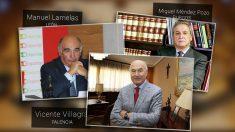 Los presidentes de las Cámaras de Comercio de León (Manuel Lamelas), Palencia (Vicente Villagrás) y Burgos (Miguel Méndez Pozo).