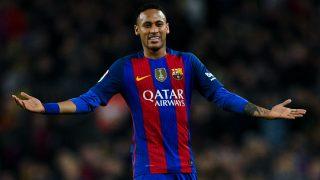 Neymar durante un partido con el Barcelona. (Getty)