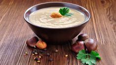 Receta de Sopa de castañas