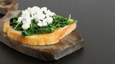 Receta de Tosta de queso y espinacas