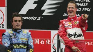 Fernando Alonso ha declarado que considera a Schumacher como el gran rival de su carrera. (Getty)