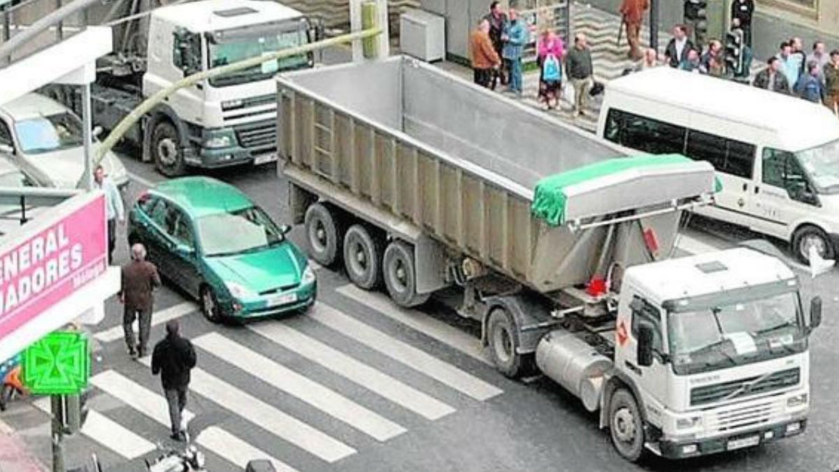 Los camiones así no podrán circular por zonas cercanas a las cabalgatas de reyes como medida de prevención. Foto: Archivo