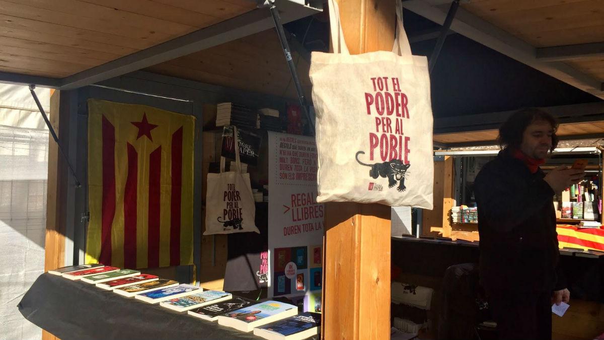 Caseta en el Mercadillo de Consumo Responsable de Barcelona