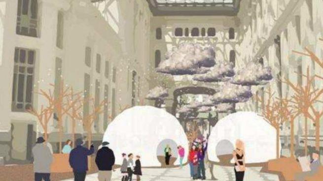 Dos iglús muy especiales condensan la Navidad en CentroCentro Cibeles de Madrid