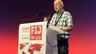 Philippe Leruth, presidente de la Federación Internacional de Periodistas. (FIJ)