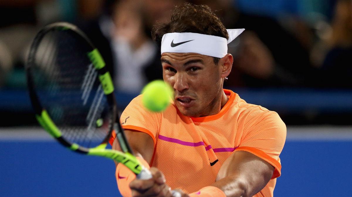 Rafa Nadal, en un partido en Abu Dhabi. (Getty)