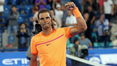Rafa Nadal, en el torneo de Abu Dhabi. (AFP)
