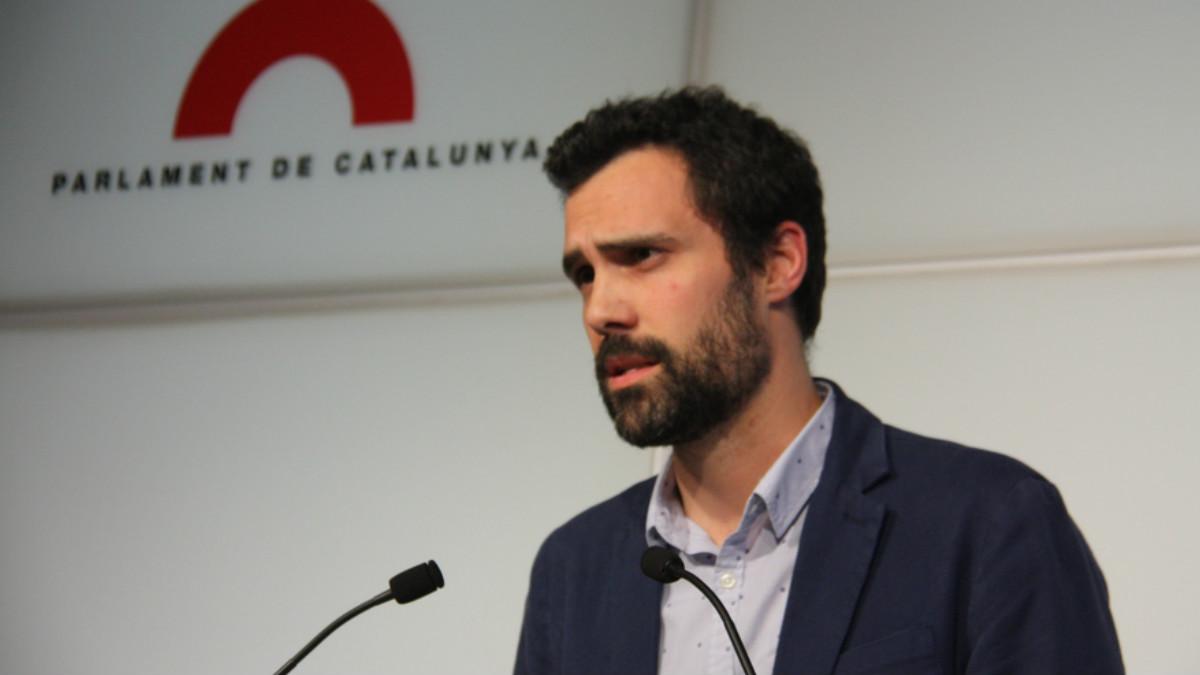 El presidente del Parlament catalán, Roger Torrent.