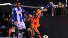 Fede Cartabia pelea un balón durante el partido de Copa en Leganés. (Getty)