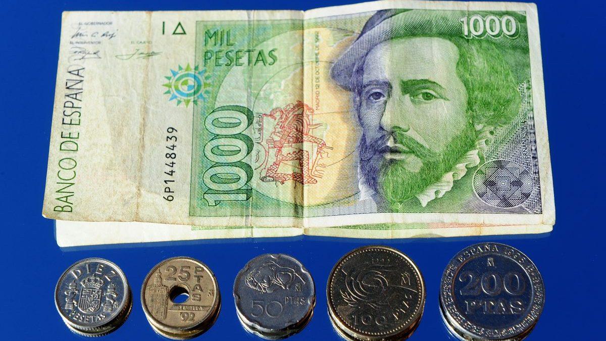 Divisas de las antiguas pesetas (Foto: Getty)