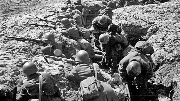 Primera Guerra Mundial trincheras