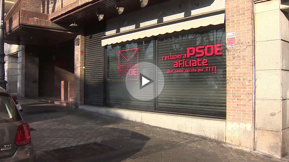 Fachada de la Sede de la plataforma 'Recupera el PSOE' en Ferraz
