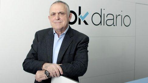 Manuel Cerdán en la redacción de OKDIARIO.