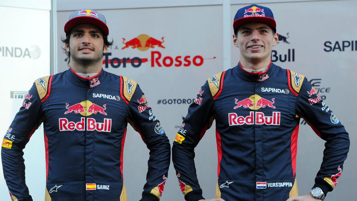 Max Verstappen ha confirmado que su relación con Carlos Sainz cuando eran compañeros no era especialmente buena. (Getty)
