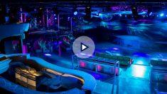"""Así luce la sala principal de la """"sala multiusos"""" de Miguel Ángel Flores, nada que envidiar a cualquier macrodiscoteca de Ibiza."""
