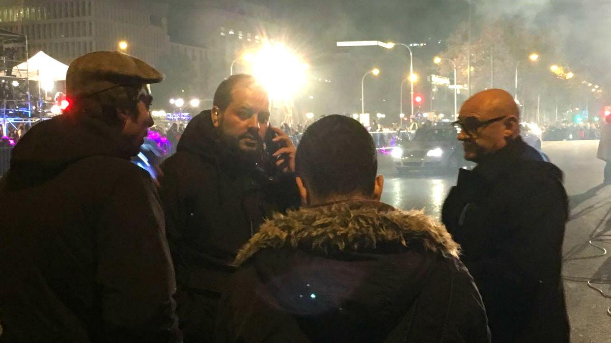Miembros de la seguridad de Carmena se encaran con los periodistas de OKDIARIO.